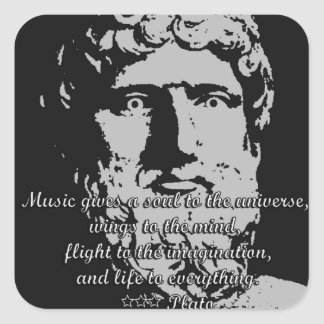 Rock Quotes - Plato Square Sticker