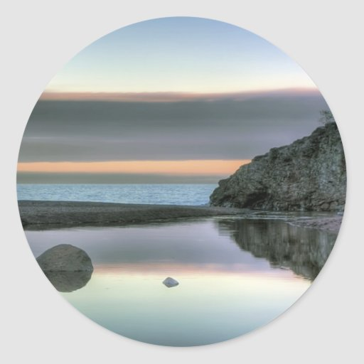 Rock Reflection Classic Round Sticker