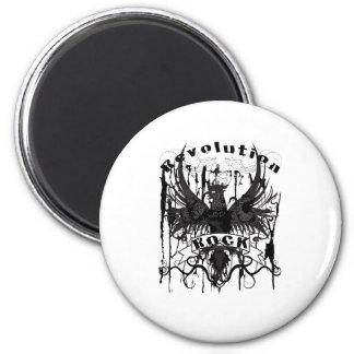 Rock Revolution Music American Apparel 2 Inch Round Magnet