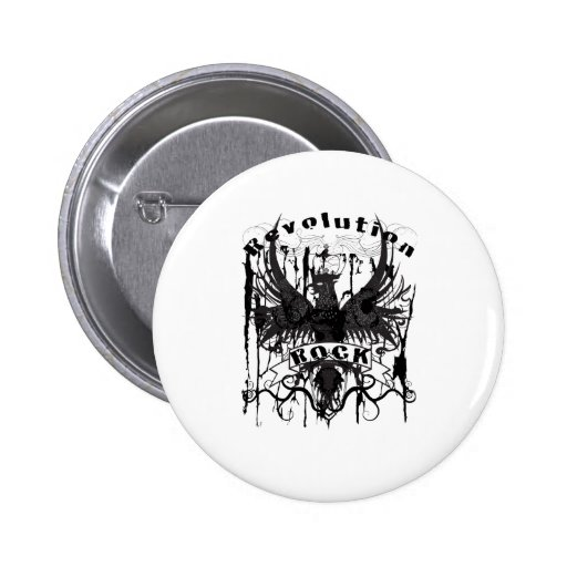 Rock Revolution Music American Apparel Pinback Buttons
