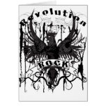 Rock Revolution Music American Apparel Greeting Cards