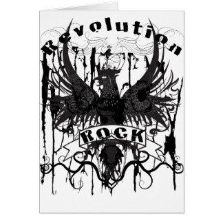 Rock Revolution Music American Apparel Greeting Cards