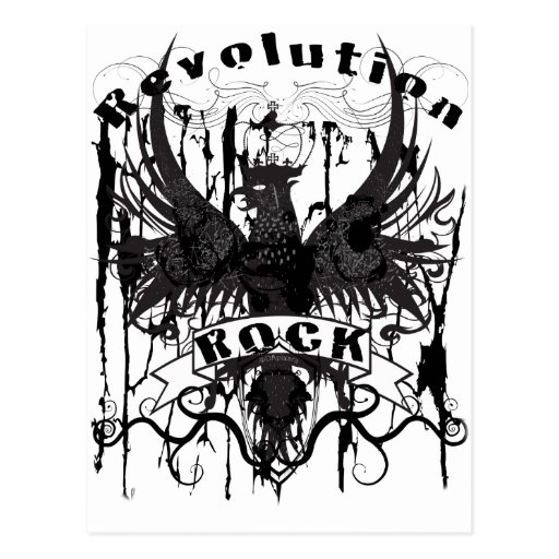 Rock Revolution Music American Apparel Post Cards