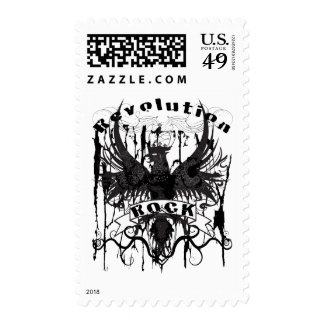 Rock Revolution Music American Apparel Postage Stamp