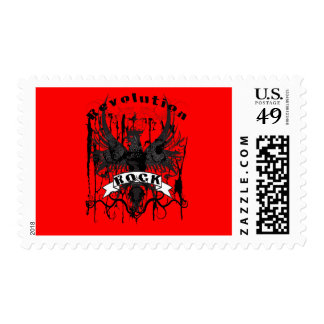 Rock Revolution Music American Apparel Postage Stamps
