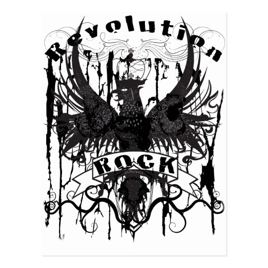 Rock Revolution Music American Apparel Postcard