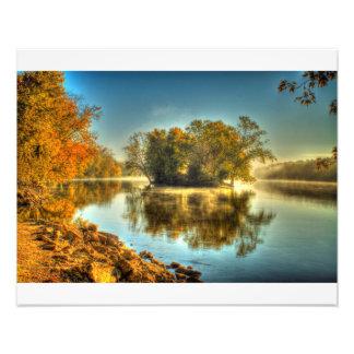 Rock River Autumn Photographic Print