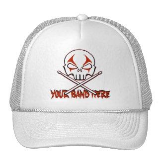 Rock & Roll Cap Custom Heavy Metal Drummer Caps Trucker Hat
