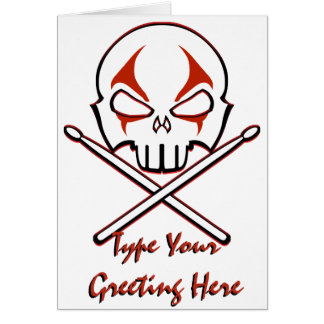 Rock & Roll Card Custom Heavy Metal Drummer Card