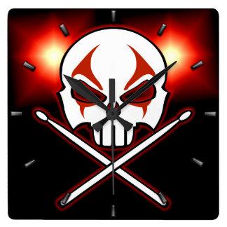Rock & Roll Clock Heavy Metal Drummer Wall Clock