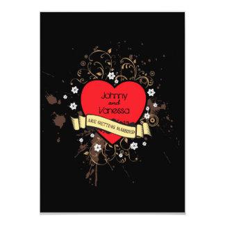 Rock & Roll Grungy Heart Card