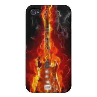 Rock & Roll Guitar in Flames  Cover For iPhone 4