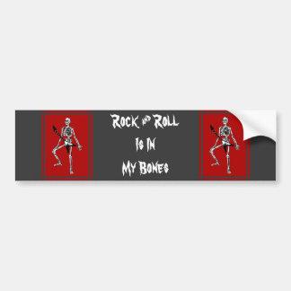 Rock & Roll In My Bones Bumper Sticker