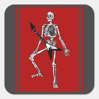 Rock & Roll In My Bones Square Sticker