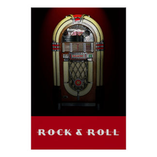 Rock & Roll Jukebox 36 x 24 Poster