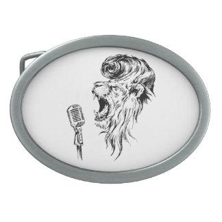 Rock&roll lion belt buckle
