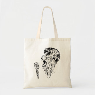 Rock&roll lion tote bag