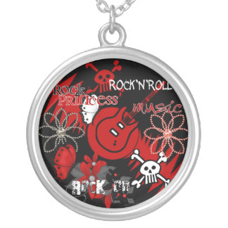 Rock Roll Music Sterling Silver Necklace