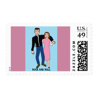 Rock & Roll - party couple Postage