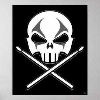 Rock & Roll Poster Heavy Metal Drummer Poster Sm