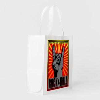 Rock & Roll Reusable Grocery Bag