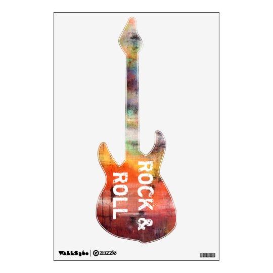 Rock & Roll Revolution Electric Guitar Shape Wall Sticker