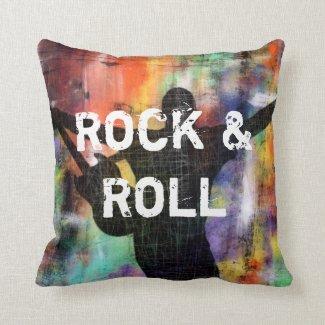 Rock & Roll Revolution Throw Pillow