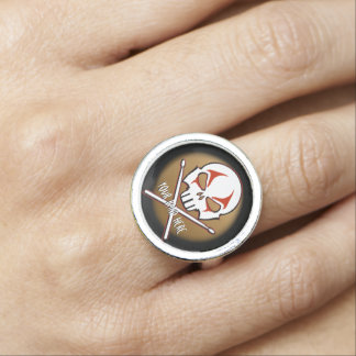 Rock & Roll Ring Heavy Metal Drummer Ring Jewelry