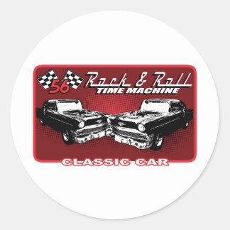 Rock & Roll Time Machine Classic Round Sticker