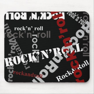 rock & roll typography design mouse pad