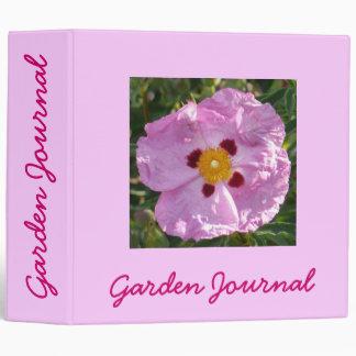 "Rock Rose Garden Journal - Avery 2"" Binder"