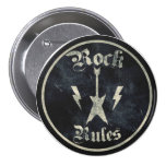 Rock Rules !! 3 Inch Round Button