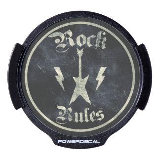 Rock Rules LED Car Window Decal