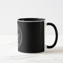 rock and roll, rock, rules, music, rock rules, cool, funny, 90's, vintage, band, retro, guitar, bands, old, school, musician, artist, audio, fun, mug, Mug with custom graphic design