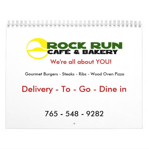 Rock Run Cafe & Bakery Calendar