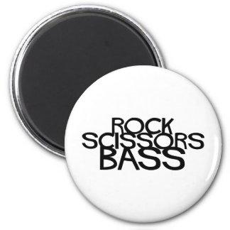 Rock Scissors Bass 2 Inch Round Magnet