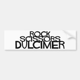 Rock Scissors Dulcimer Bumper Sticker