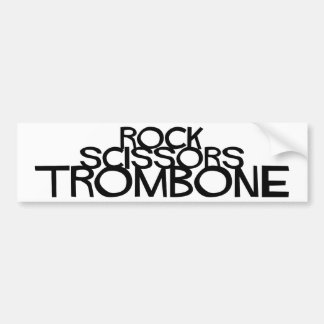 Rock Scissors Trombone Bumper Sticker