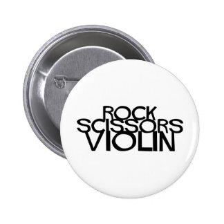 Rock Scissors Violin Buttons