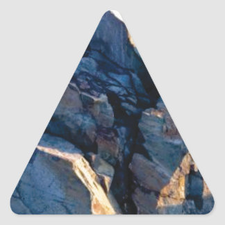 rock shadow texture triangle sticker