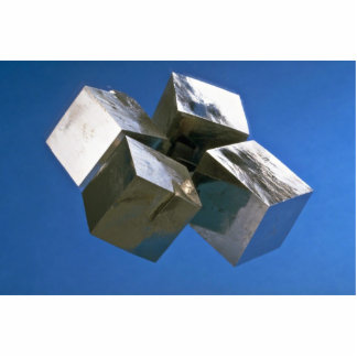 Rock shiny Pyrite mineral blocks Cutout