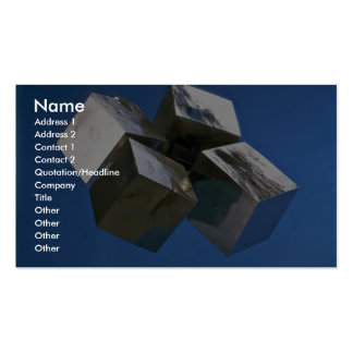 Rock shiny Pyrite mineral blocks Double-Sided Standard Business Cards (Pack Of 100)