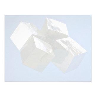 Rock shiny Pyrite mineral blocks Personalized Letterhead