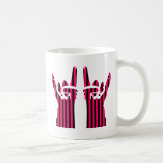 rock sign classic white coffee mug