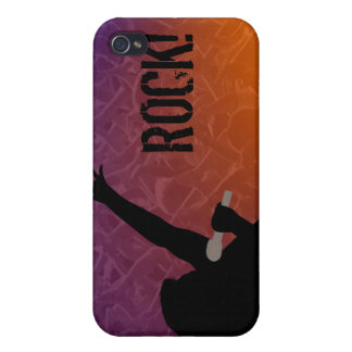 Rock Singer's silhouette With a Crowd iPhone 4 Cover