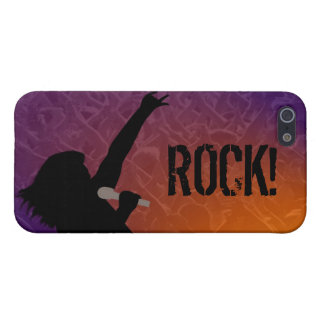 Rock Singer's silhouette With a Crowd iPhone SE/5/5s Case