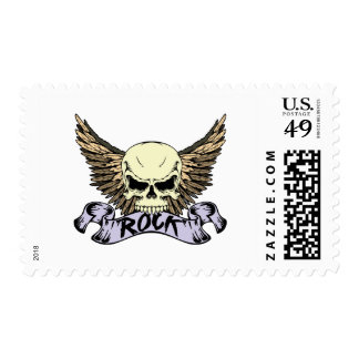Rock Skull with Wings Postage