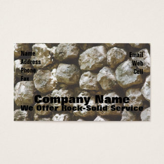 Rock Solid Business Card