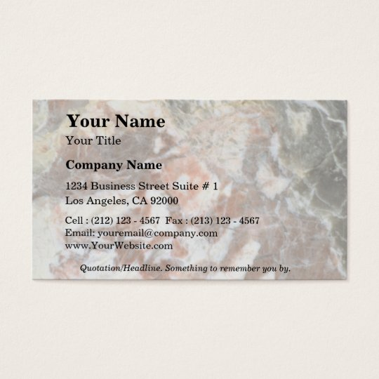 Rock Solid Calico Business Card