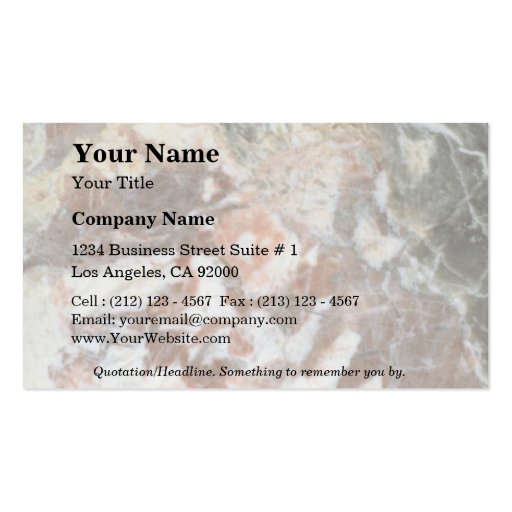 Rock Solid Calico Business Card Template